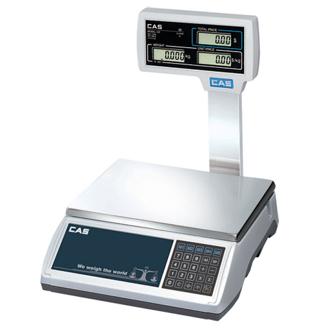 CAS ER Plus Scale 30 Kg with Pole Display - Easypos Point of Sale Systems