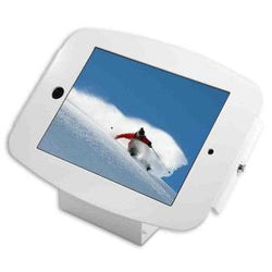 SECURE SPACE ENCLOSURE WITH 45 DEGREE WALL/COUNTER STAND FOR IPAD 2/3/4/AIR/AIR2/5TH GEN/PRO 9.7IN - WHITE - Easypos Point of Sale Systems