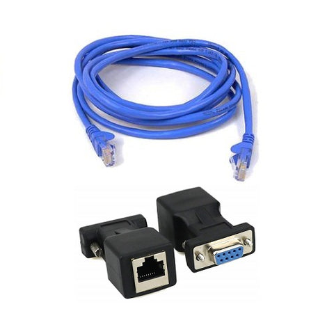 Printer Cable RS232 DB9 M/F to RJ45 with Cat5e Cable - Easypos Point of Sale Systems
