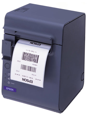 Epson TML90 Thermal Linerless Label Printer Serial & USB PSU - Easypos Point of Sale Systems