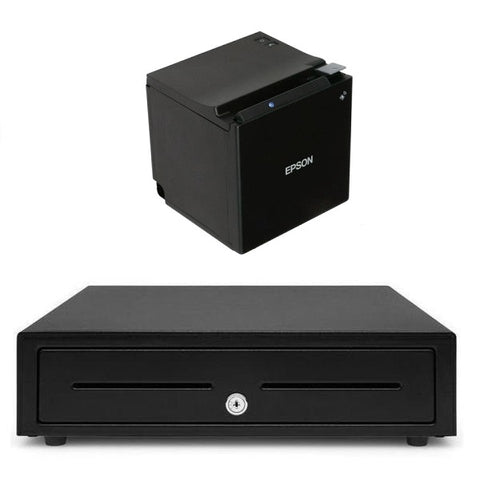 Bundle EPSON TM-M30 Bluetooth Receipt Printer with EC410 Cash Drawer - EasyPOS