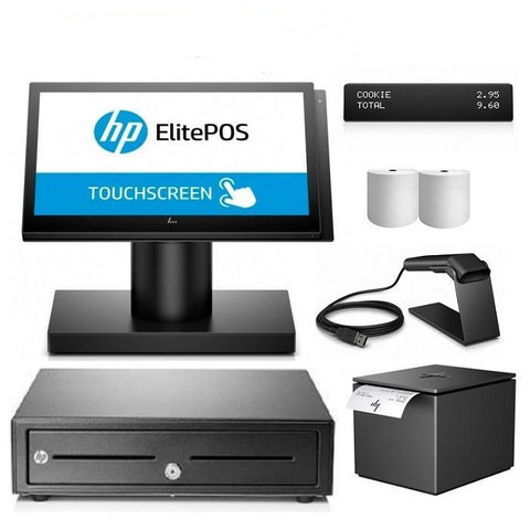NeoPOS Hp ElitePOS Retail and Hospitality Manager POS Hardware Bundle #15 - EasyPOS