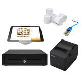 Kounta iPad Compatible POS Hardware with Studio Proper Stand -  Bundle #3 - EasyPOS