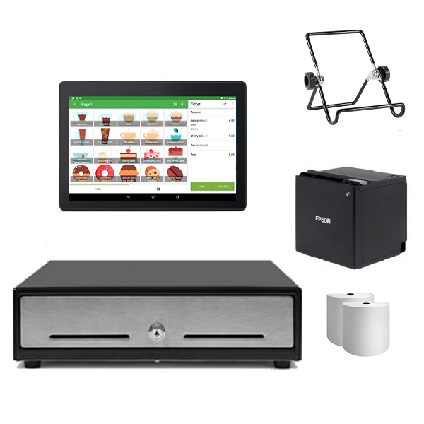 Loyverse Bluetooth POS Hardware with Android Tablet Bundle #6 - Easypos Point of Sale Systems