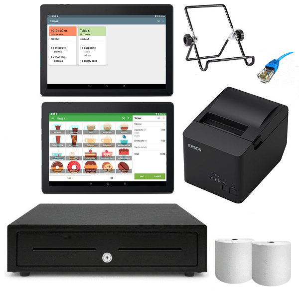 Loyverse Hospitality Android POS Hardware with Kitchen Display Bundle #7