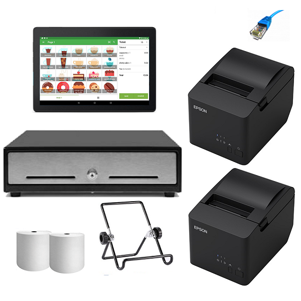 Loyverse Hospitality POS Hardware with Kitchen Printer Bundle #16 - EasyPOS
