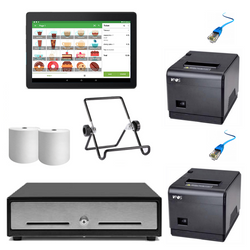 Loyverse Hospitality POS Hardware with VPOS Ethernet Printers Bundle #23 - Easypos Point of Sale Systems