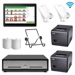 Loyverse Hospitality POS Hardware with VPOS Printers & WiFi Extenders Bundle #24 - EasyPOS