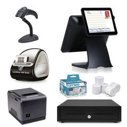 "NeoPOS Retail POS System with 9.7"" Customer Display & Label Printer Bundle #NL33"