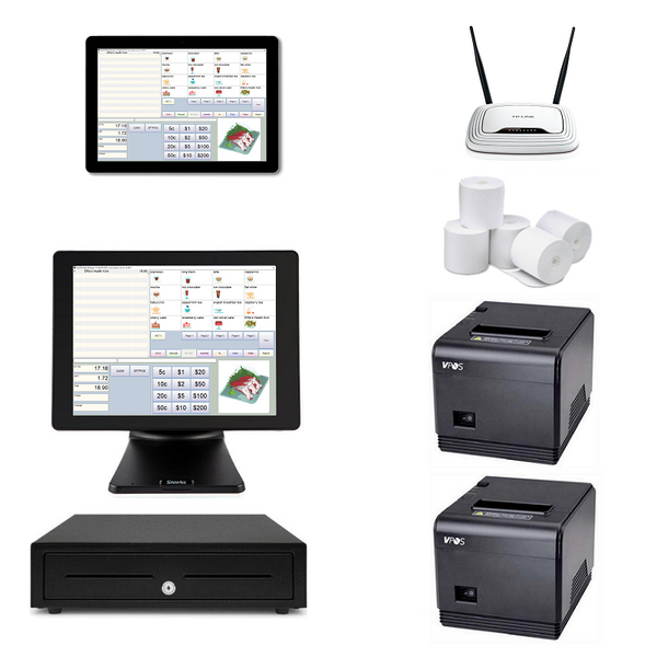Restaurant POS System with one POS Terminal & one Windows Tablets Bundle #N106