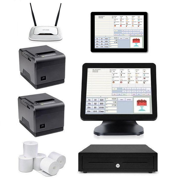 Restaurant POS System with the T9 POS Terminal & one Windows Tablet Bundle #N107