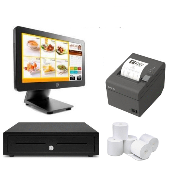 NeoPOS Retail and Hospitality Manager with HP RP2 2000 POS Hardware Bundle #17 - Easypos Point of Sale Systems