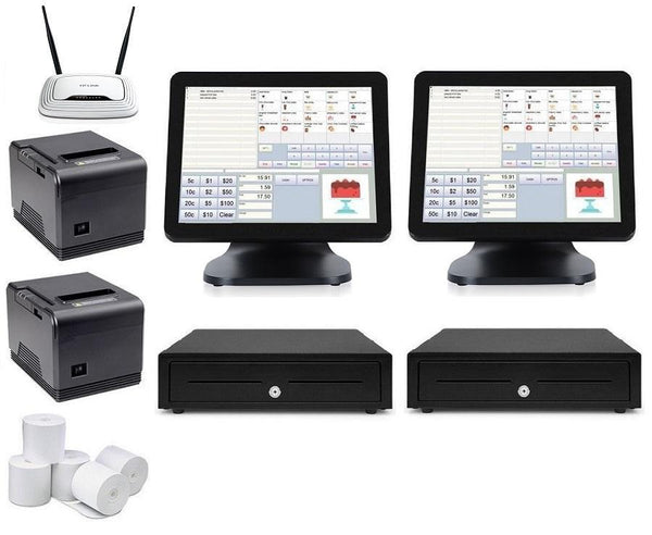 Cafe POS System with two T9 POS Terminals Bundle #104