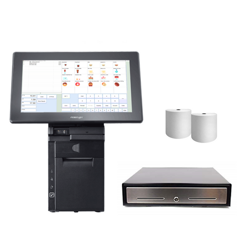 NeoPOS Retail and Hospitality Manager with the Posiflex HS-3514 All in one Touch Terminal Bundle #18 - EasyPOS