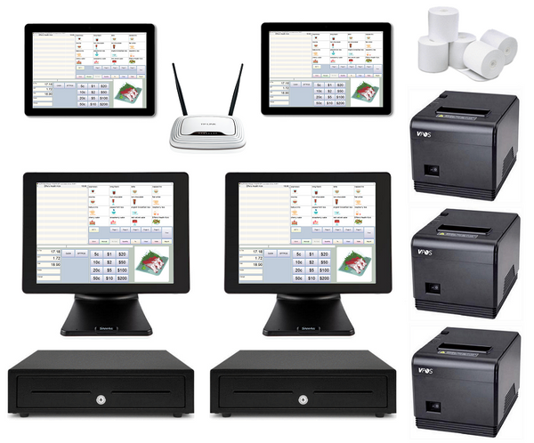 Restaurant POS System with two POS Terminals & two Windows Tablets Bundle #101 - EasyPOS
