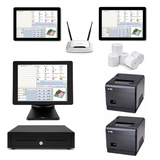 Restaurant POS System with the SAM4S Terminal & two Windows Tablets Bundle #102 - EasyPOS