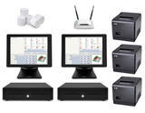 Restaurant POS System with two SAM4S POS Terminals Bundle #103 - EasyPOS