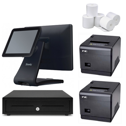 "NeoPOS Hospitality POS System with the SAM4S Touch POS Terminal & 9.7"" Customer LCD Display #24 - EasyPOS"