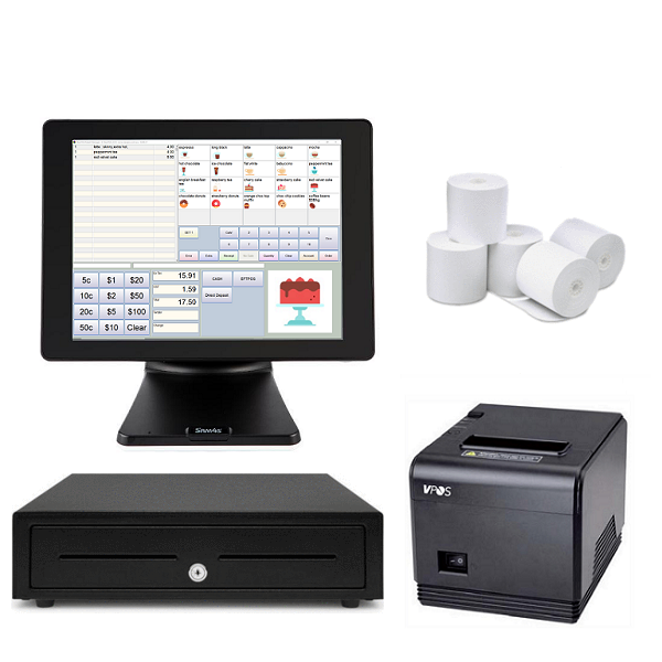 NeoPOS Retail and Hospitality Manager with the SAM4S Titan S360 Touch POS Terminal Bundle #21 - Easypos Point of Sale Systems