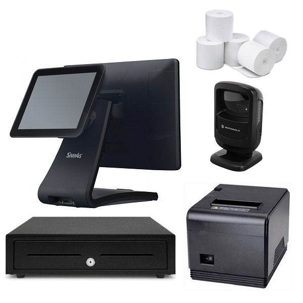"NeoPOS Retail POS System with 9.7"" Customer Display & Zebra DS9208 Barcode Scanner Bundle #N22"
