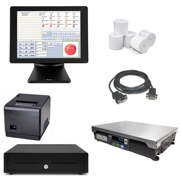 NeoPOS Retail POS System with Integrated Scale Bundle #NIS21