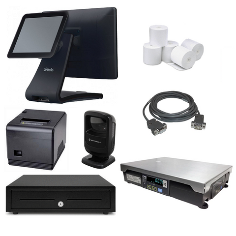 "NeoPOS Retail POS System with 9.7"" Customer Display & Integrated Scale Bundle #NIS22"