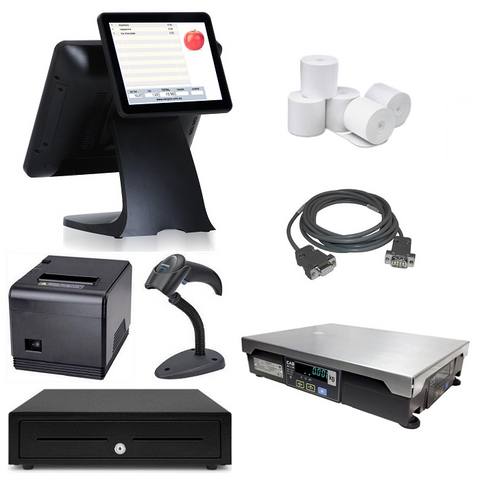 "NeoPOS Retail POS System with 9.7"" Customer Display & Integrated Scale Bundle #NIS33"