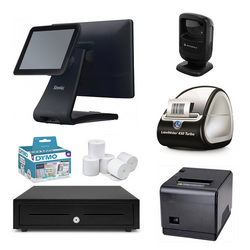 "NeoPOS Retail POS System with 9.7"" Customer Display & Label Printer Bundle #NL22"