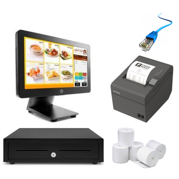 Neto POS Hardware with the HP RP2 2000 Bundle #5 - Easypos Point of Sale Systems