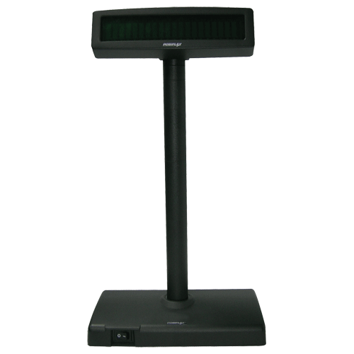 POSIFLEX Pole Display /w base PD2600 2x20VFD 300mm Pl RS232 - Easypos Point of Sale Systems