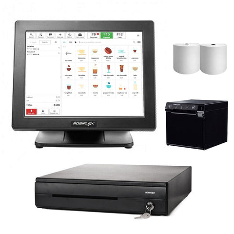 "Posiflex Point of Sale 15"" All in one POS System Bundle #2 - EasyPOS"