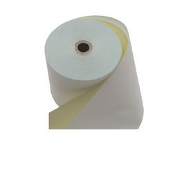 Printex Paper Rolls - Bond 2 Ply (White/Yellow) 76 X 76 with 12mm Core (50 Rolls per Carton) - Easypos Point of Sale Systems