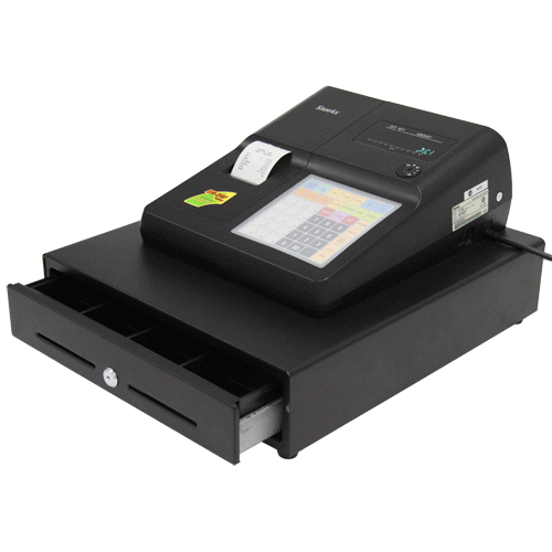 SAM4S ER-265EJ Cash Register with Large Cash Drawer - Easypos Point of Sale Systems