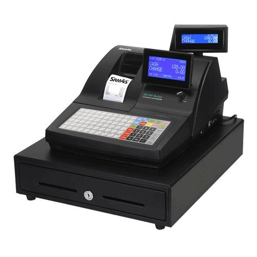 SAM4S NR-520 Cash Register 2-Station Thermal Flat Keyboard - Easypos Point of Sale Systems