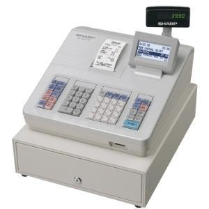 Sharp XEA207W Cash Register with Raised Keyboard White - EasyPOS