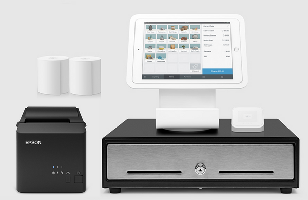 Square Stand Kit with Square Stand, Cash Drawer and USB Printer Bundle S22