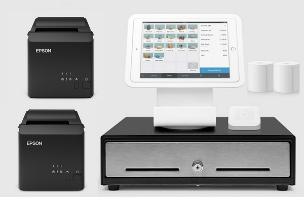 Square Stand Kit with Square Stand, Cash Drawer, USB Printer and Ethernet Printer Bundle S24