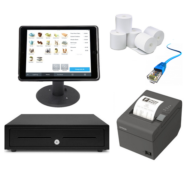 "Square POS Hardware with the Kensington iPad 9.7"" Enclosure & Stand Bundle #12 - EasyPOS"