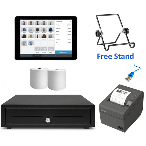 "Square POS System with the Apple iPad 9.7"" Bundle #14 - Easypos Point of Sale Systems"