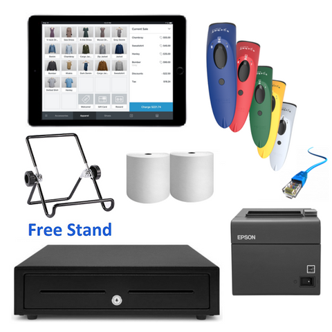 "Square POS System with the Apple iPad 9.7"" & SocketScan S700 Bundle #15 - Easypos Point of Sale Systems"