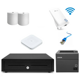 Square POS Hardware with Epson Printer WiFi Adapter - iPad Compatible Bundle #21