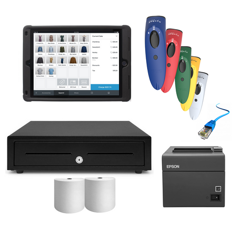 Square iPad Compatible POS Hardware with SocketScan S700 & Kensington Case Stand -  Bundle #13 - EasyPOS