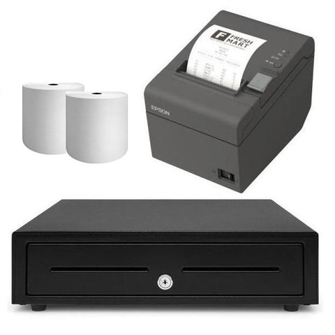 Square Receipt Printer & Cash Drawer iPad Compatible Bundle #2 - Easypos Point of Sale Systems