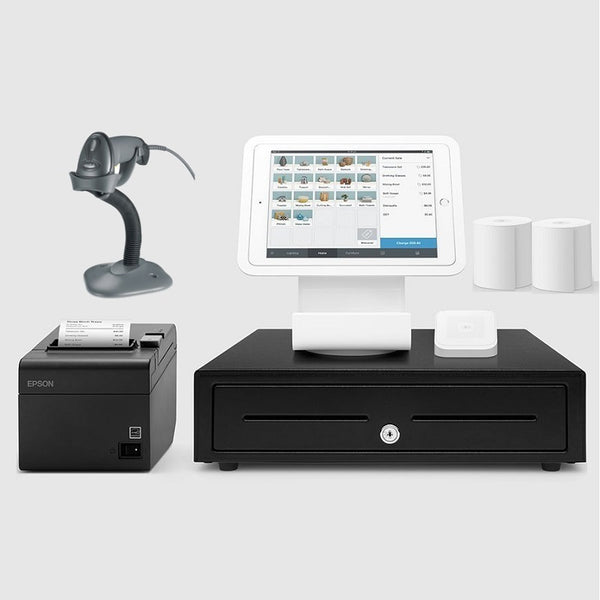 Square Stand Retail POS System for iPad with the Zebra LS2208 Barcode Scanner Bundle #18 Large Drawer