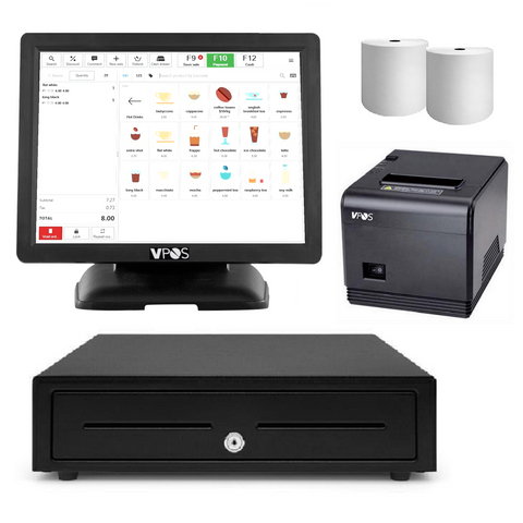 "VPOS Point of Sale 15"" All in one POS System Bundle #1 - EasyPOS"