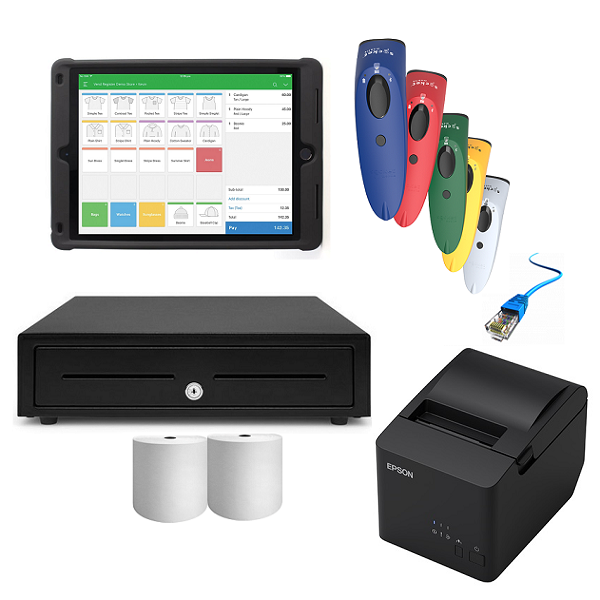 Vend iPad Compatible POS Hardware with SocketScan S700 & Kensington Case Stand - Bundle #12