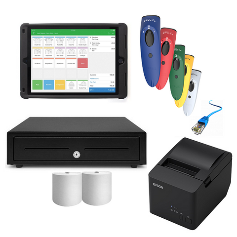 Vend iPad Compatible POS Hardware with SocketScan S700 & Kensington Case Stand - Bundle #12 - EasyPOS
