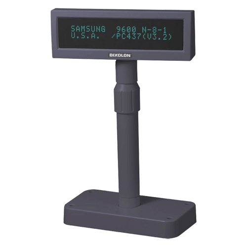 BIXOLON BCD1000 Pole Display RS232 Dark Grey - Easypos Point of Sale Systems