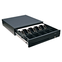 POSIFLEX CR-4100 Cash Drawer Black - Easypos Point of Sale Systems