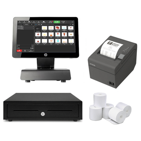 "HP RP2 Point of Sale 14"" All in one POS System Bundle #4 - Easypos Point of Sale Systems"